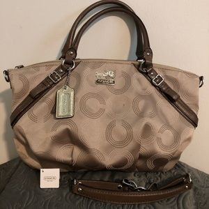 GUC COACH Madison Dot Opal Sophia Satchel Bag